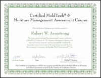 Certified MoldTech and Moisture Management Assessment Course