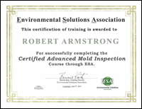 Certified Advanced Mold Inspection (CMA)